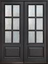 DB-655 DD Mahogany-Espresso Wood Entry Door