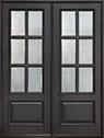 DB-655 DD Mahogany-Espresso Wood Entry Door