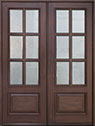 DB-655 DD Mahogany-Walnut Wood Entry Door