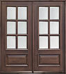 DB-655S DD Mahogany-Walnut Wood Entry Door