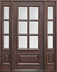 DB-655 2SL Mahogany-Walnut Wood Entry Door