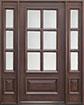 DB-655 2SL Mahogany-Walnut Wood Entry Door