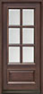 DB-655 Mahogany-Walnut Wood Entry Door