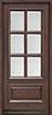 DB-655 Mahogany-Walnut Wood Entry Door