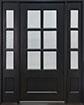 DB-656 2SL Mahogany-Espresso Wood Entry Door