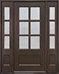 DB-656 2SL Mahogany-Walnut Wood Entry Door