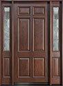 DB-660W 2SL Mahogany-Walnut Wood Entry Door
