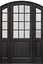DB-801PT 2SL Mahogany-Espresso Wood Entry Door