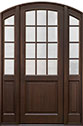 DB-801PT 2SL Mahogany-Walnut Wood Entry Door