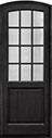 DB-801PT Mahogany-Espresso Wood Entry Door
