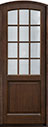 DB-801PT Mahogany-Walnut Wood Entry Door