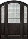 DB-801PW 2SL Mahogany-Espresso Wood Entry Door