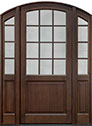 DB-801PW 2SL Mahogany-Walnut Wood Entry Door
