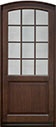 DB-801PW Mahogany-Walnut Wood Entry Door