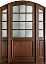 DB-801W 2SL Mahogany-Walnut Wood Entry Door