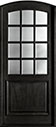 DB-801W Mahogany-Espresso Wood Entry Door