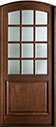 DB-801W Mahogany-Walnut Wood Entry Door