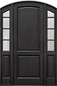 DB-802PT 2SL Mahogany-Espresso Wood Entry Door