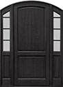 DB-802PW 2SL Mahogany-Espresso Wood Entry Door