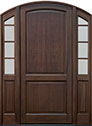 DB-802PW 2SL Mahogany-Walnut Wood Entry Door