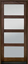 DB-823PWC Mahogany-Walnut Wood Entry Door