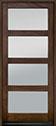 DB-823PWC Mahogany-Walnut Wood Door - in-Stock