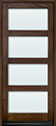 DB-823PW Mahogany-Walnut Wood Entry Door