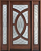 DB-885 2SL Mahogany-Walnut Wood Entry Door