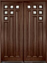 DB-976 DD Mahogany-Walnut Wood Entry Door