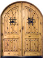 Knotty Alder Solid Wood Front Entry Door - Double
