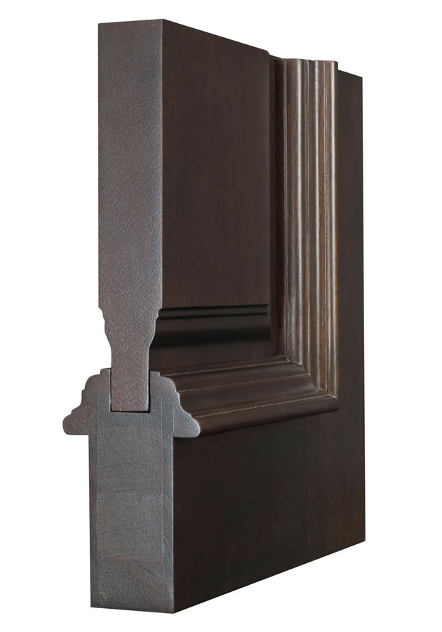 Entry door in stock double solid wood with light for Solid wood front doors