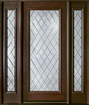 Classic Series Mahogany Wood Front Door  - GD-001DG 2SL
