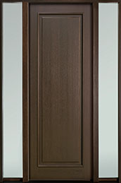 Classic Series Mahogany Wood Front Door  - GD-001PT 2SL-F