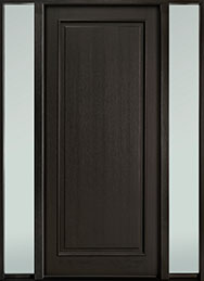 Classic Series Mahogany Wood Front Door  - GD-001PW 2SL-F