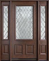 Classic Series Mahogany Wood Front Door  - GD-002 DG 2SL
