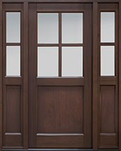 Classic Series Mahogany Wood Front Door  - GD-004PS 2SL