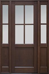 Classic Series Mahogany Wood Front Door  - GD-004PT 2SL