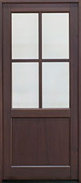 Classic Mahogany Wood Front Door  - GD-004PW