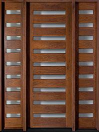 Contemporary Series American Walnut Wood Front Door  - GD-004T 2SL