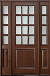 Classic Series Mahogany Wood Front Door  - GD-012T 2SL