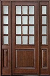 Classic Series Mahogany Wood Front Door  - GD-012T 2SL