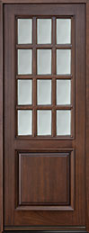 Classic Series Mahogany Wood Front Door  - GD-012T