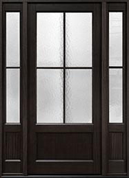 Classic Mahogany Wood Front Door  - GD-104PW 2SL
