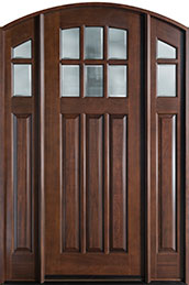 French Mahogany Wood Front Door  - GD-112A 2SL
