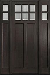 Classic Series Mahogany Wood Front Door  - GD-112PT  2SL