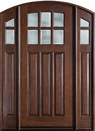 French Mahogany Wood Front Door  - GD-112WA 2SL