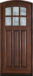 French Mahogany Wood Front Door  - GD-112WA