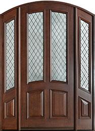 Classic Mahogany Wood Front Door  - GD-152WDG 2SL