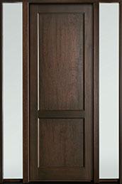 Classic Mahogany Wood Front Door  - GD-201PT 2SL-F