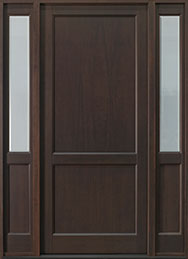 Classic Series Mahogany Wood Front Door  - GD-201PW 2SL